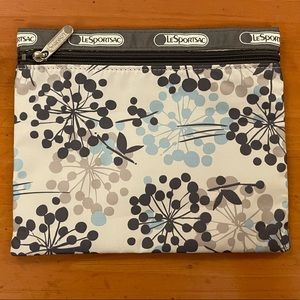 NWOT LeSportsac pretty floral cosmetic pouch